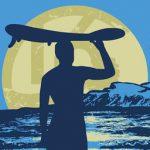 Surfen mit Longboard